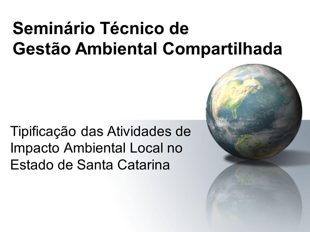 Seminário Técnico de Gestão Ambiental Compartilhada
