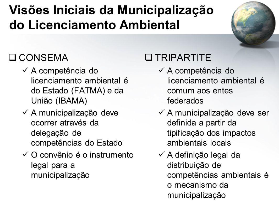 Visões Iniciais da Municipalização do Licenciamento Ambiental
