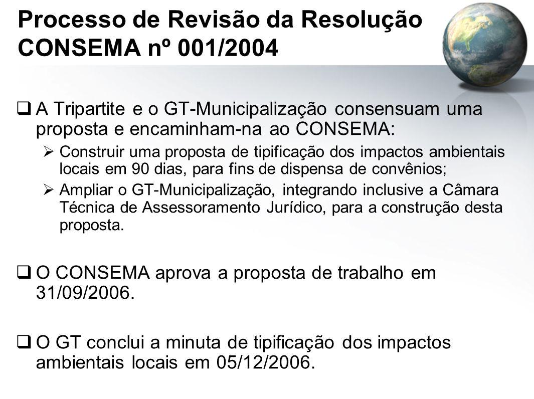 Processo de Revisão da Resolução CONSEMA nº 001/2004