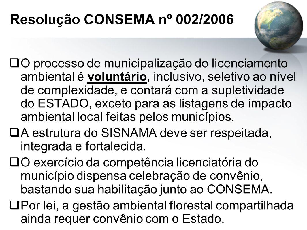 Resolução CONSEMA nº 002/2006