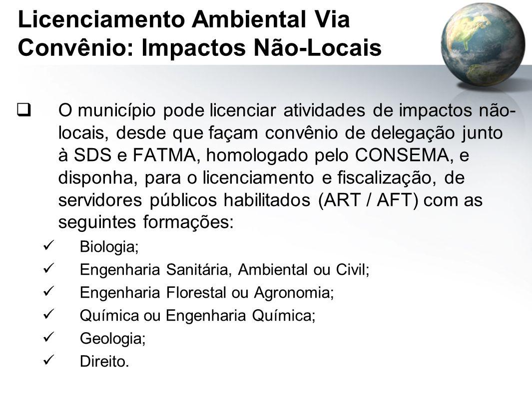 Licenciamento Ambiental Via Convênio: Impactos Não-Locais