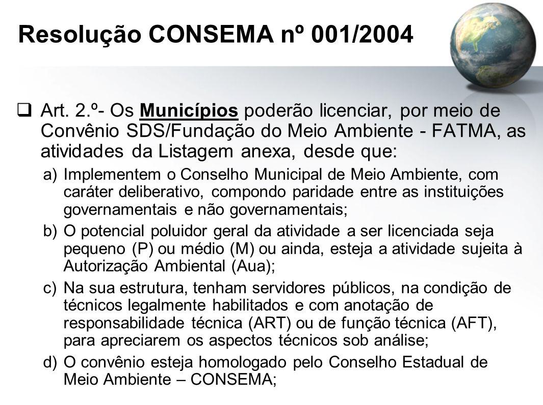 Resolução CONSEMA nº 001/2004