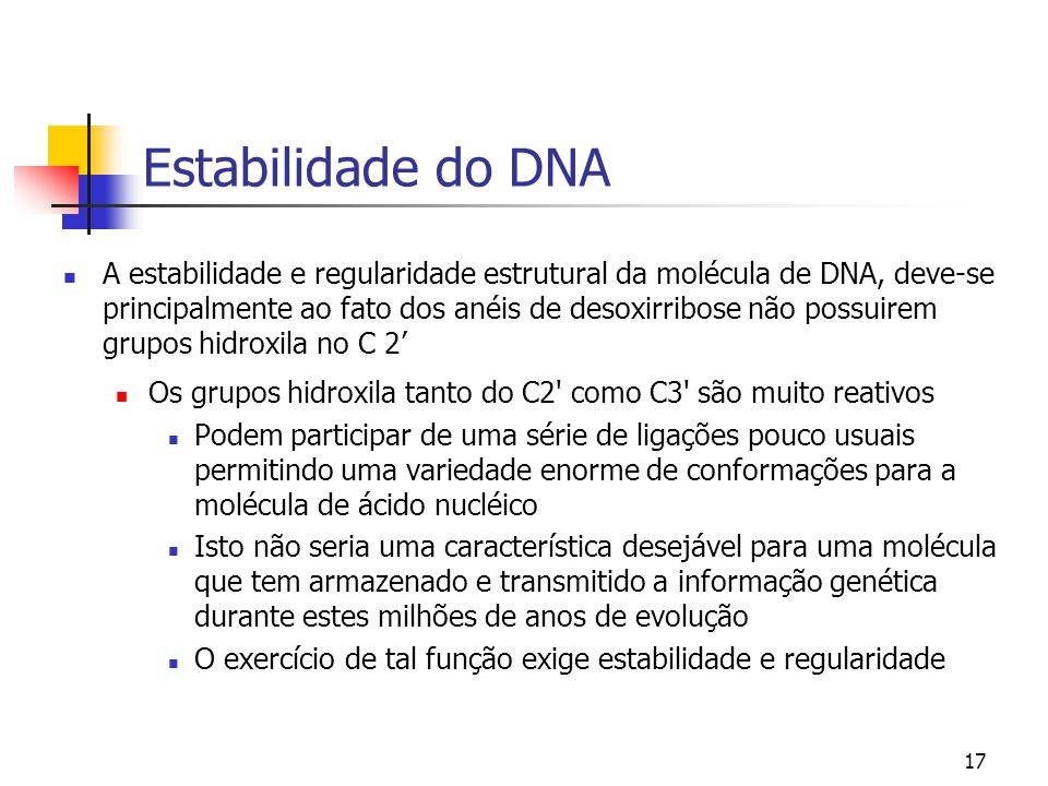 Estabilidade do DNA