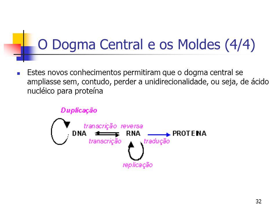O Dogma Central e os Moldes (4/4)
