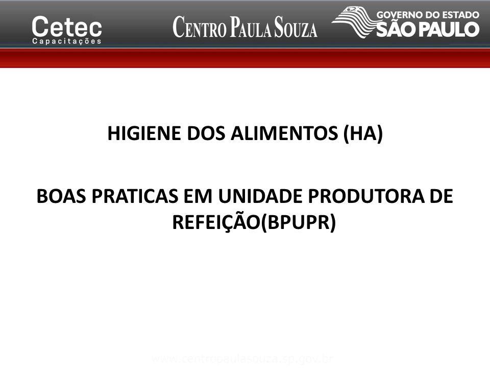 HIGIENE DOS ALIMENTOS (HA)