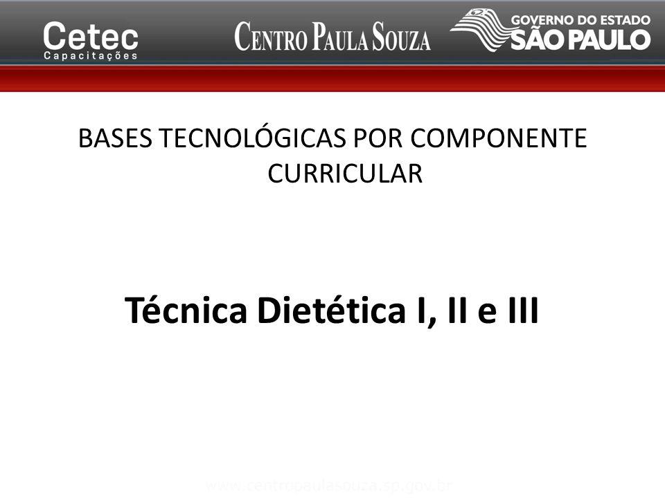 Técnica Dietética I, II e III