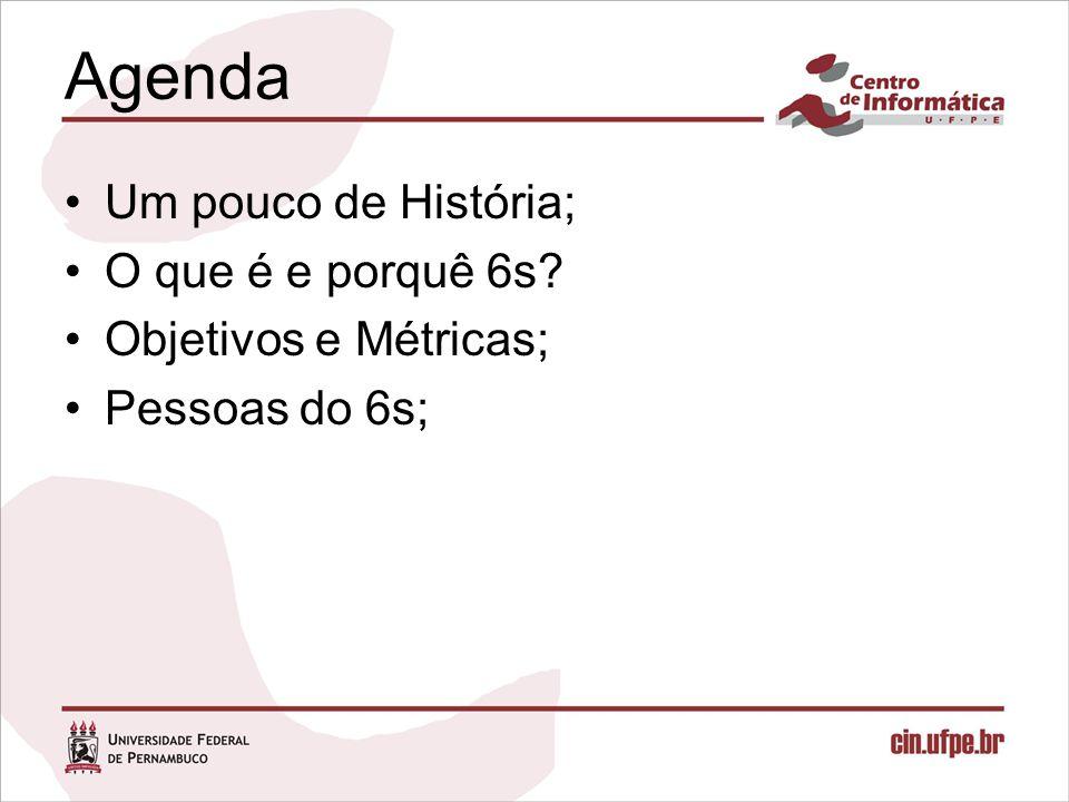 Agenda Um pouco de História; O que é e porquê 6s
