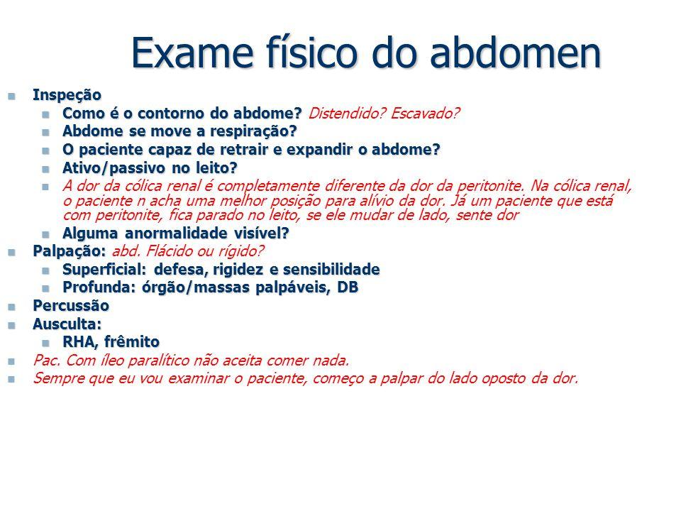 Exame físico do abdomen