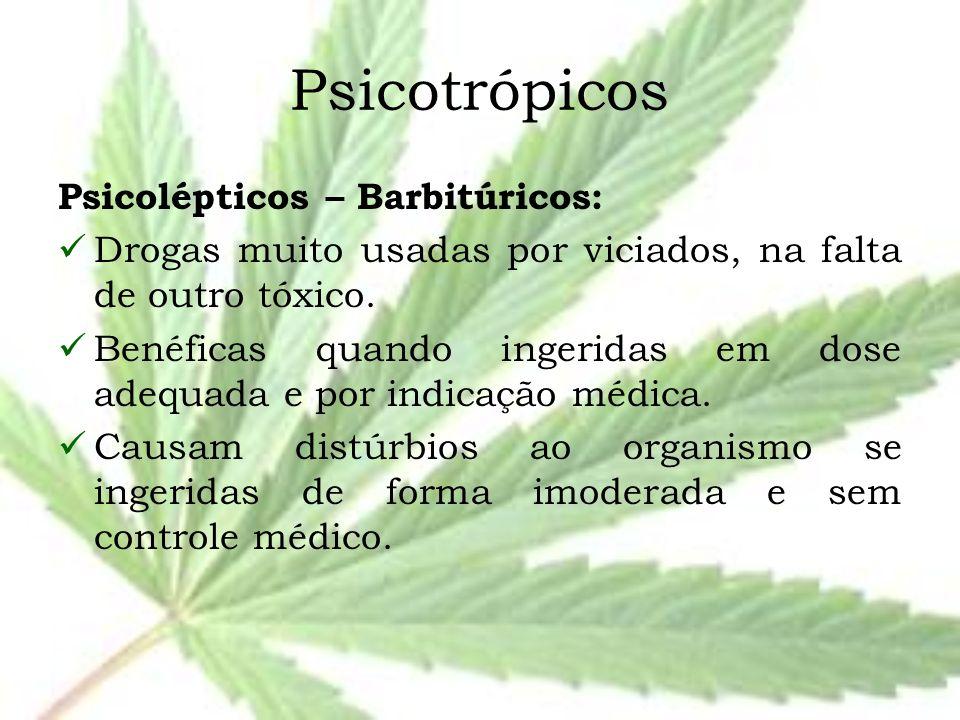 Psicotrópicos Psicolépticos – Barbitúricos: