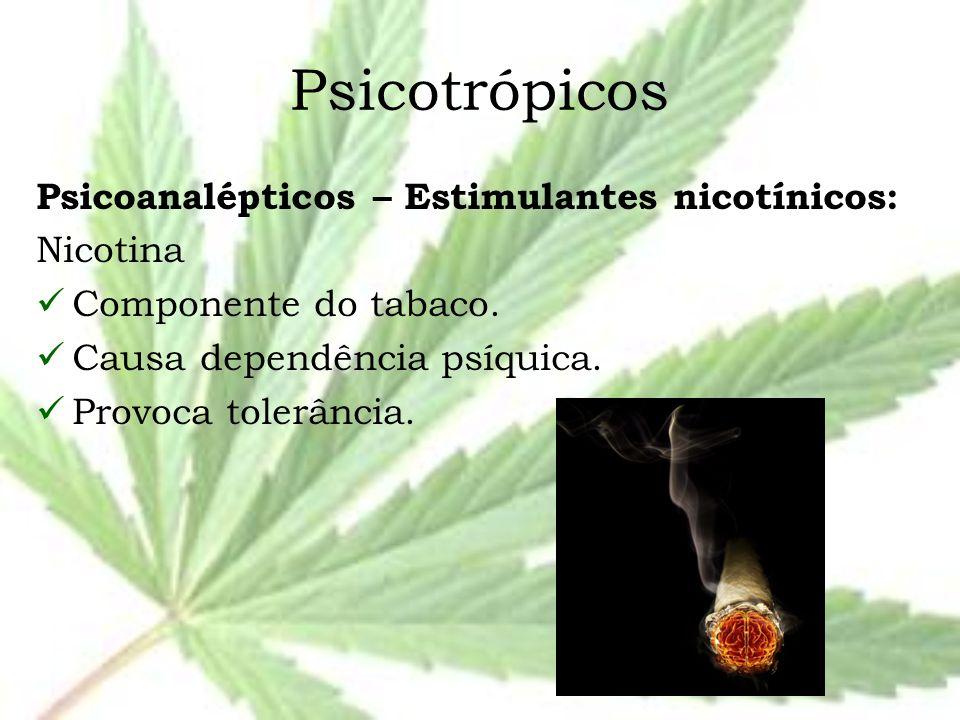 Psicotrópicos Psicoanalépticos – Estimulantes nicotínicos: Nicotina