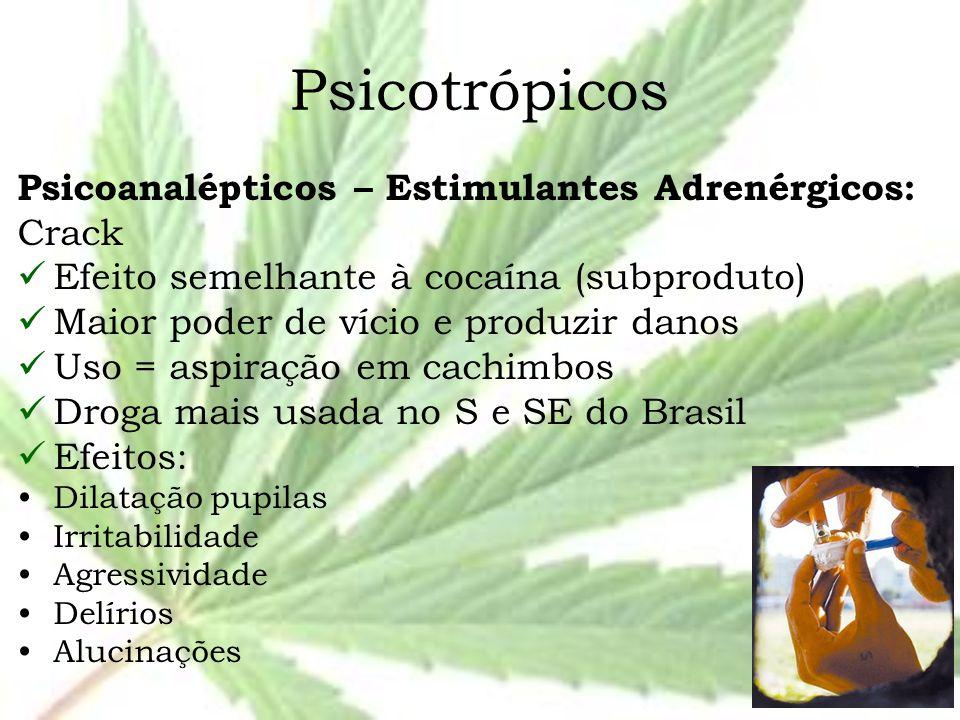 Psicotrópicos Psicoanalépticos – Estimulantes Adrenérgicos: Crack