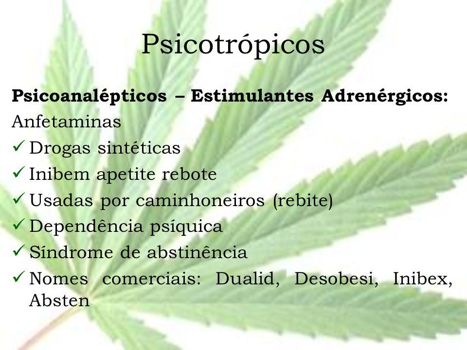 Psicotrópicos Psicoanalépticos – Estimulantes Adrenérgicos: