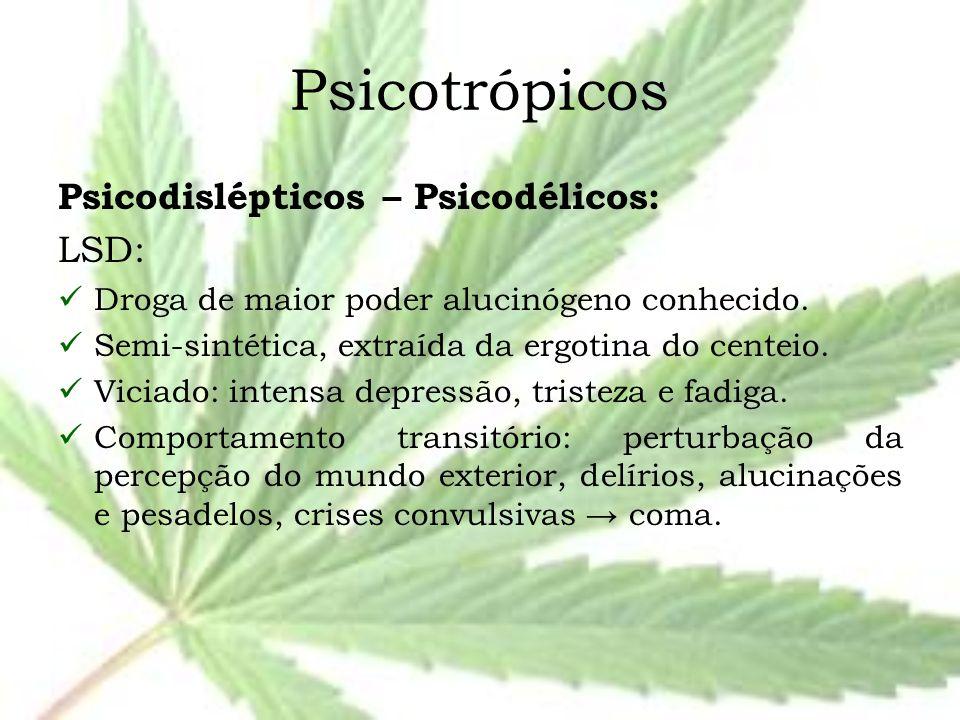 Psicotrópicos Psicodislépticos – Psicodélicos: LSD: