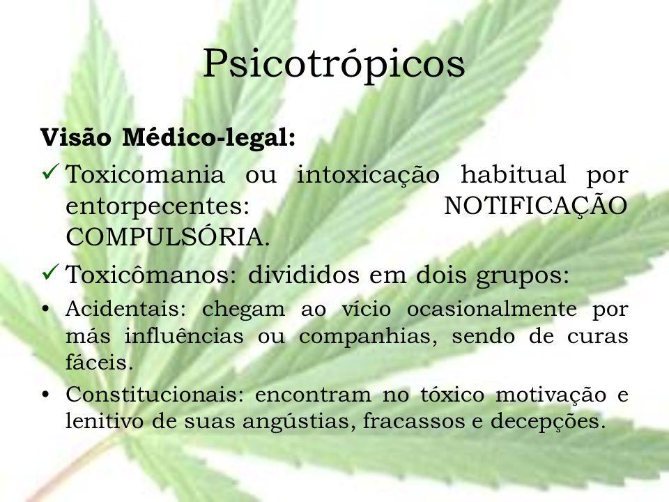 Psicotrópicos Visão Médico-legal: