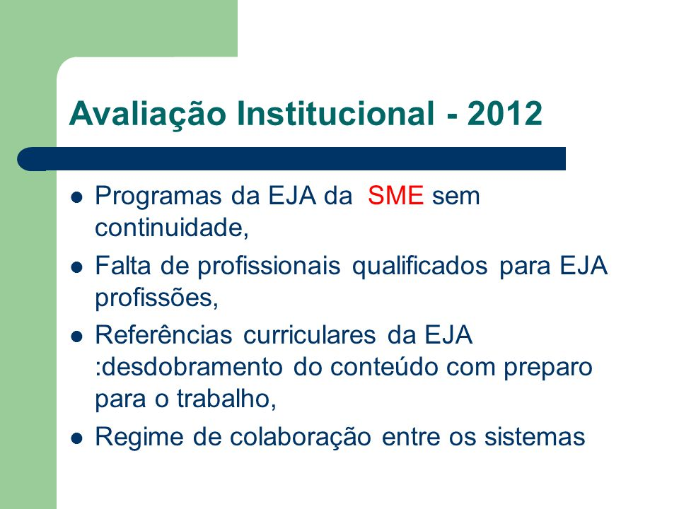 Avaliação Institucional - 2012