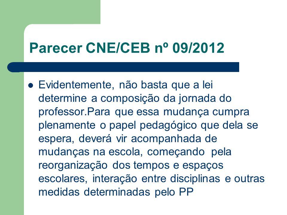 Parecer CNE/CEB nº 09/2012