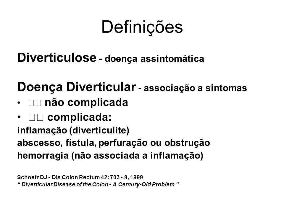 Definições Diverticulose - doença assintomática