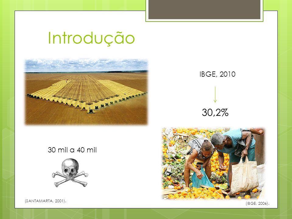 Introdução 30,2% IBGE, 2010 30 mil a 40 mil (SANTAMARTA, 2001).