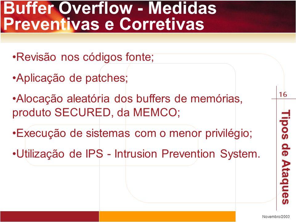 Buffer Overflow - Medidas Preventivas e Corretivas