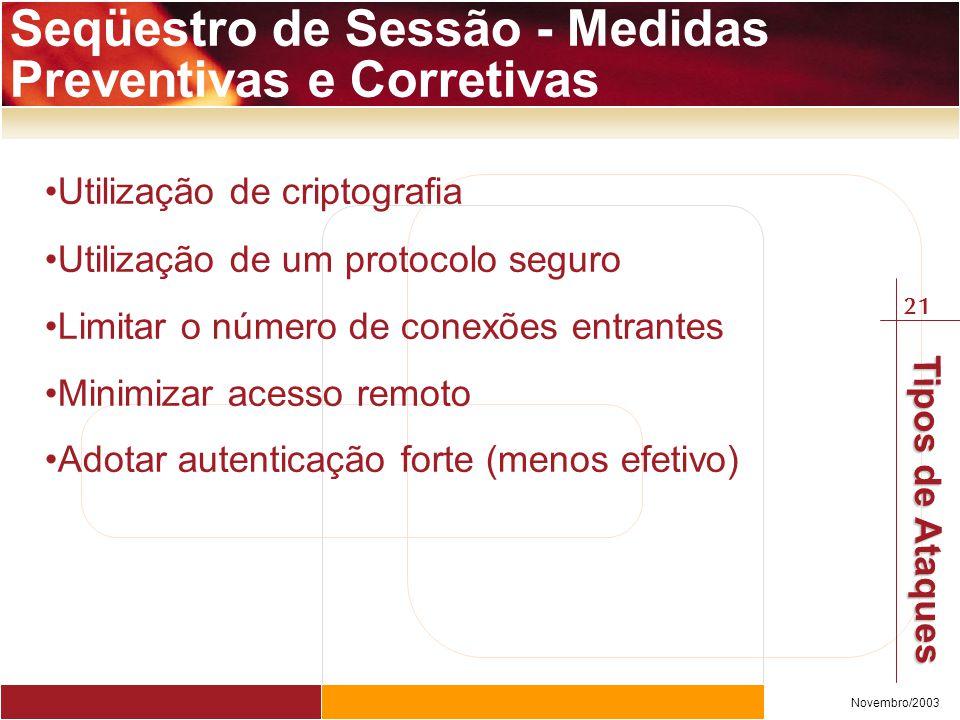 Seqüestro de Sessão - Medidas Preventivas e Corretivas
