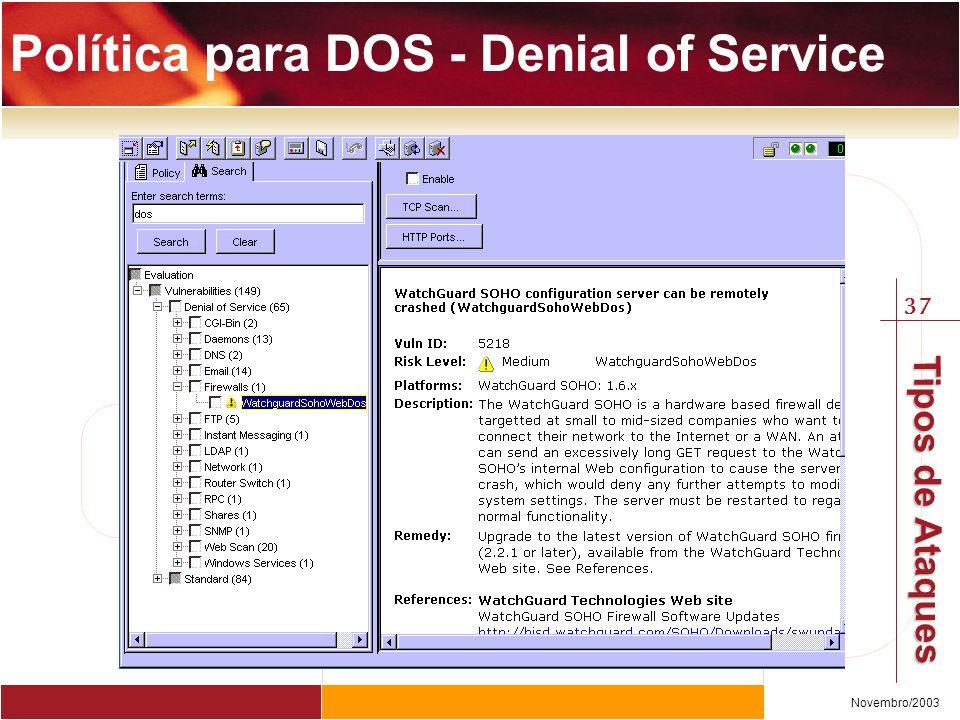 Política para DOS - Denial of Service
