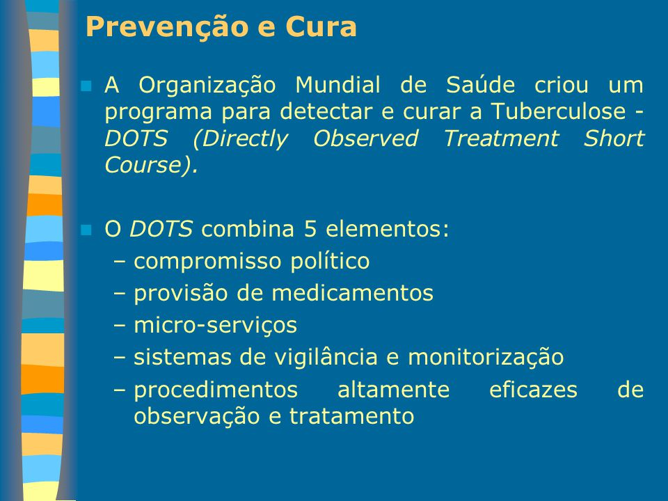 Prevenção e Cura