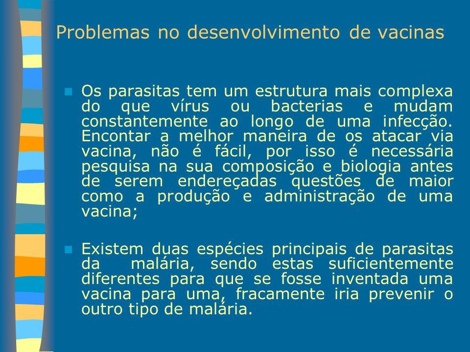Problemas no desenvolvimento de vacinas