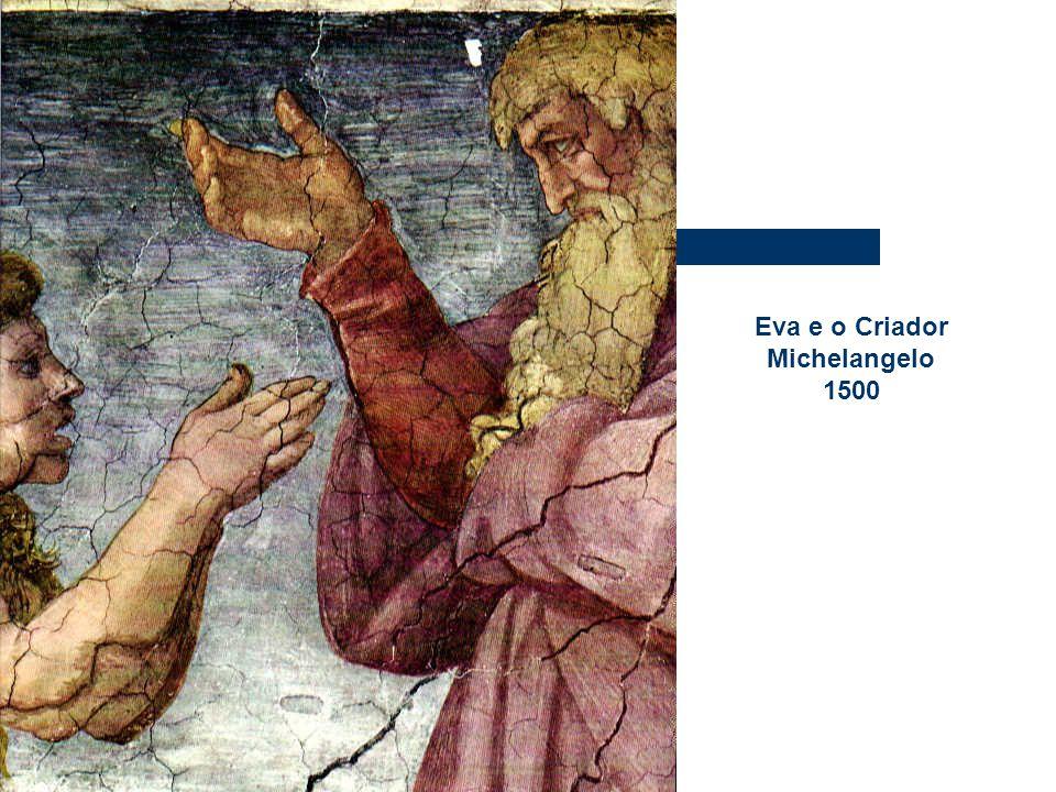 Eva e o Criador Michelangelo 1500