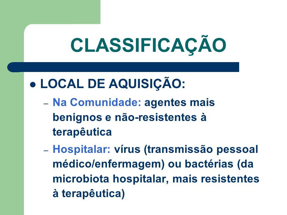 CLASSIFICAÇÃO LOCAL DE AQUISIÇÃO:
