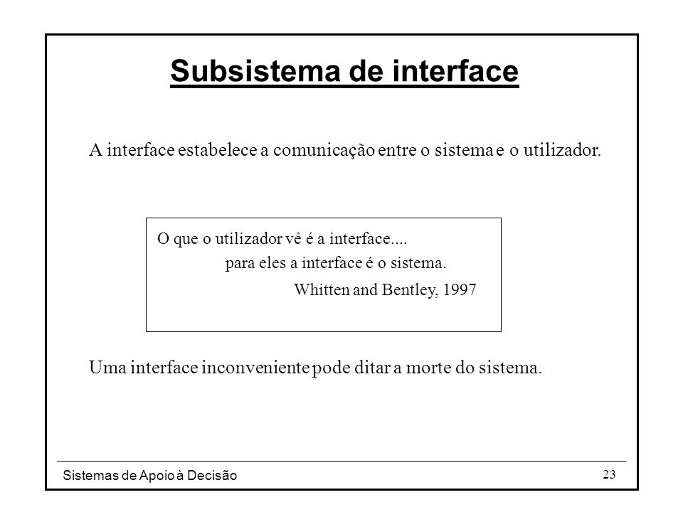 Subsistema de interface