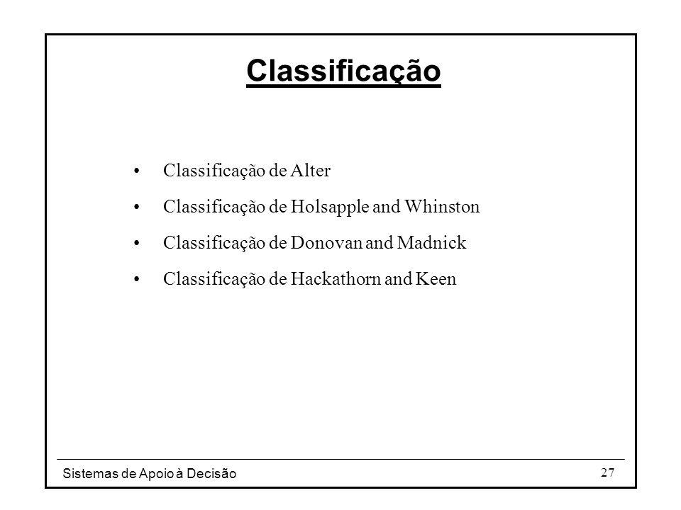 Classificação Classificação de Alter
