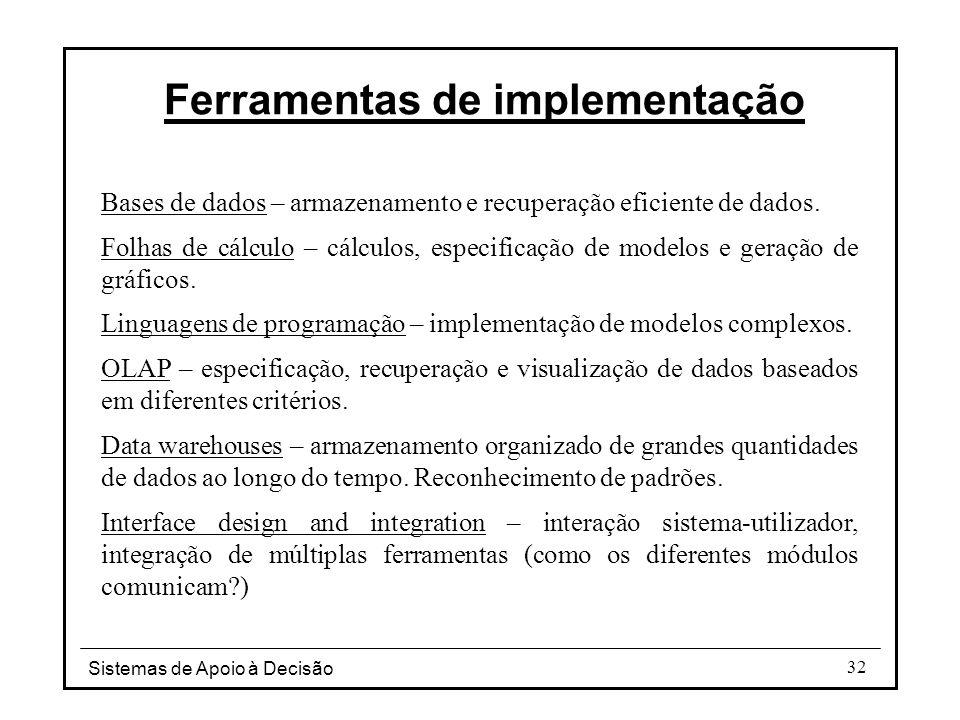 Ferramentas de implementação