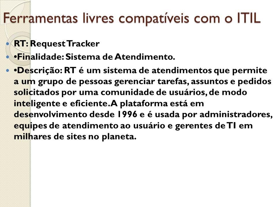 Ferramentas livres compatíveis com o ITIL