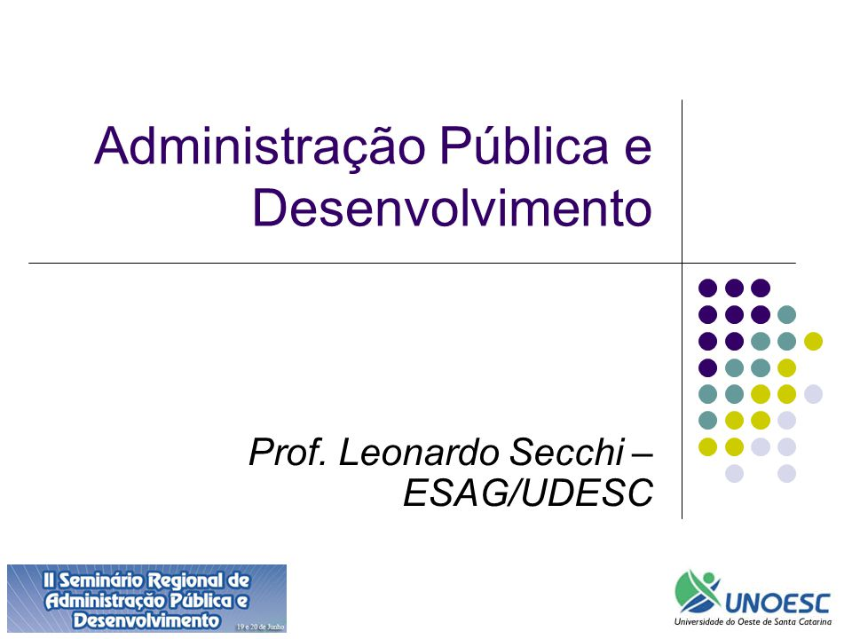 Administração Pública e Desenvolvimento