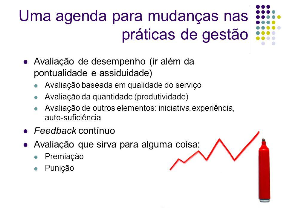 Uma agenda para mudanças nas práticas de gestão