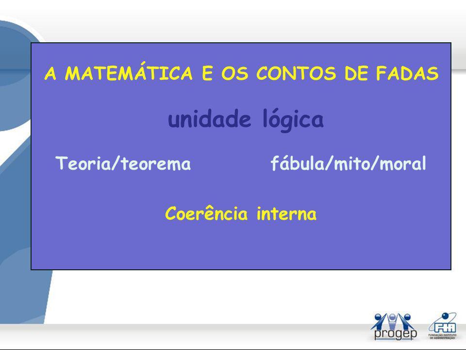 A MATEMÁTICA E OS CONTOS DE FADAS Teoria/teorema fábula/mito/moral