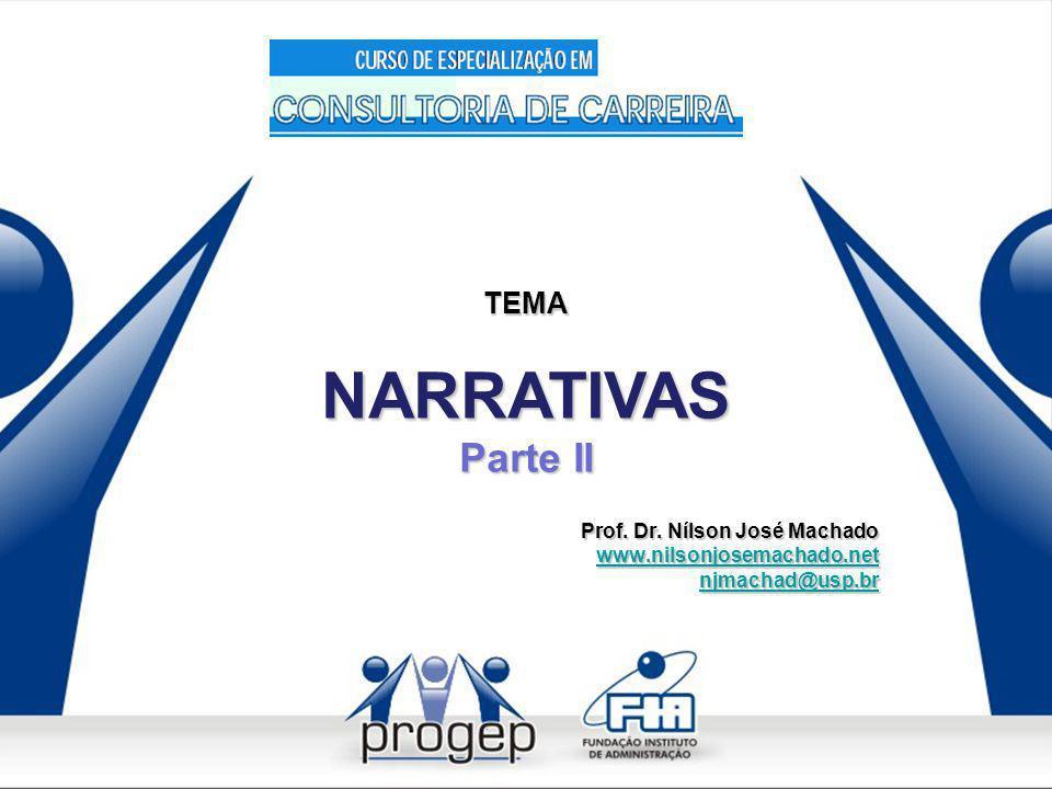 NARRATIVAS Parte II TEMA Prof. Dr. Nílson José Machado