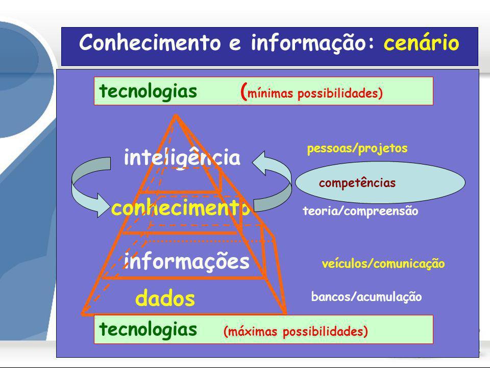 Conhecimento e informação: cenário