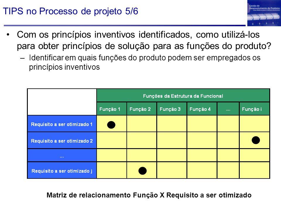 TIPS no Processo de projeto 5/6
