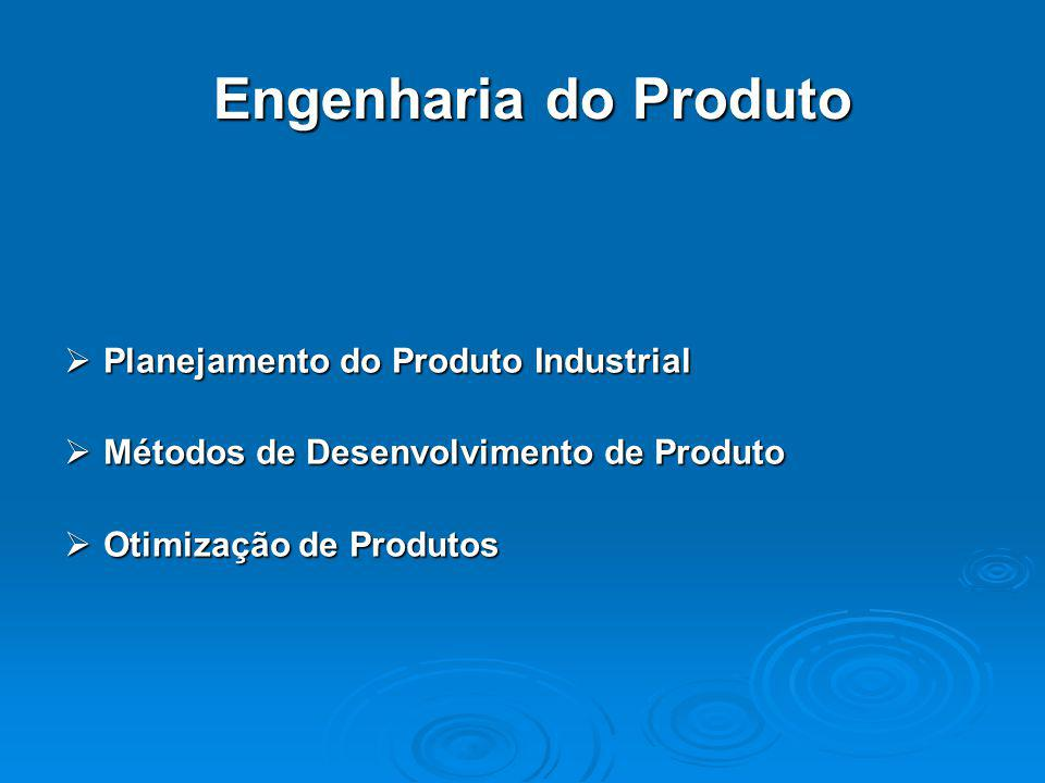 Engenharia do Produto Planejamento do Produto Industrial