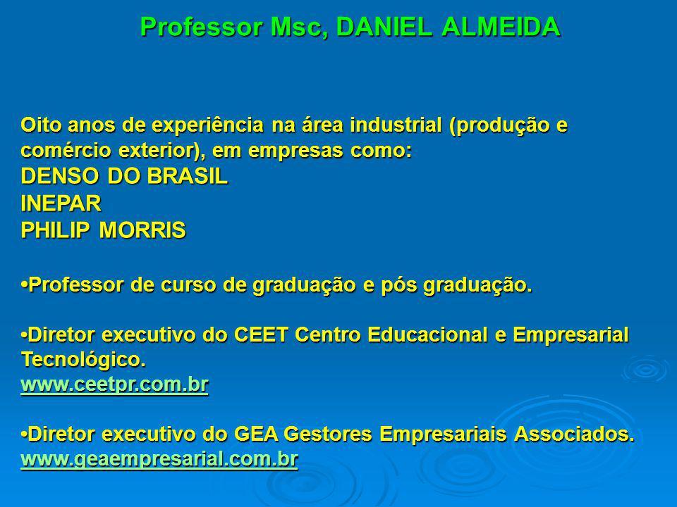 Professor Msc, DANIEL ALMEIDA