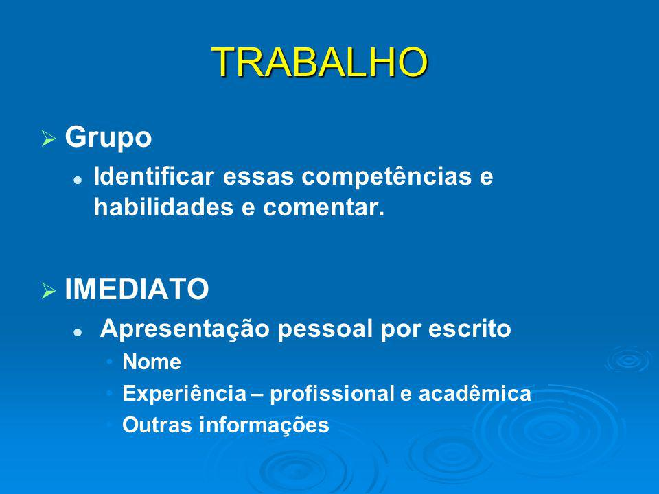 TRABALHO Grupo IMEDIATO