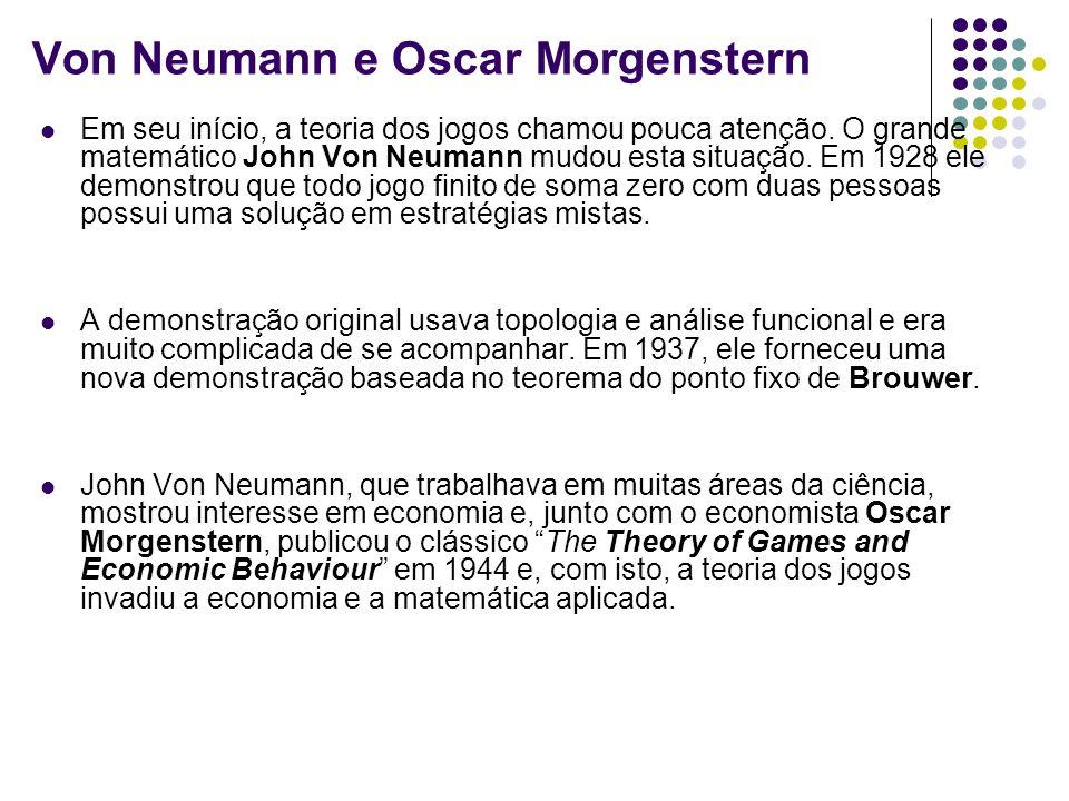 Von Neumann e Oscar Morgenstern