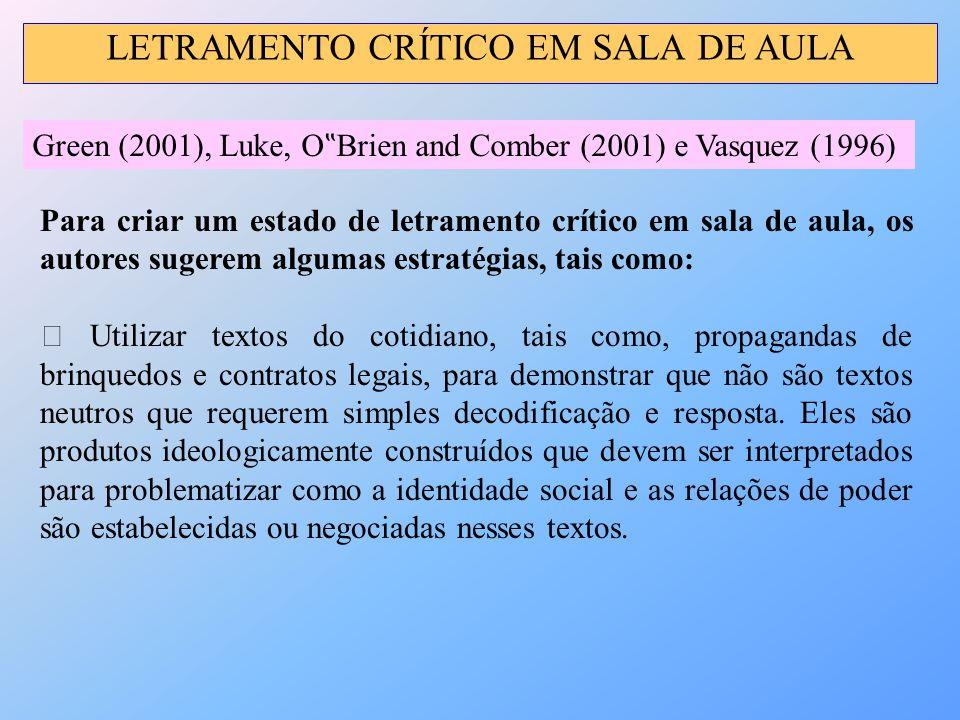 LETRAMENTO CRÍTICO EM SALA DE AULA