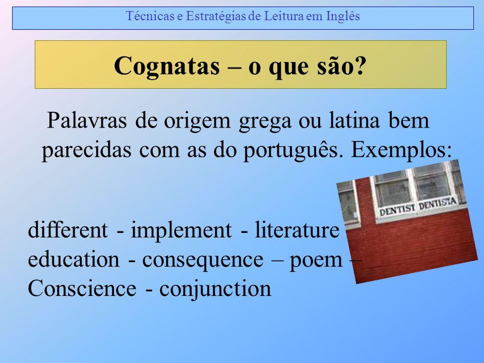 Técnicas e Estratégias de Leitura em Inglês