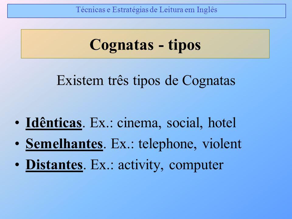 Cognatas - tipos Existem três tipos de Cognatas
