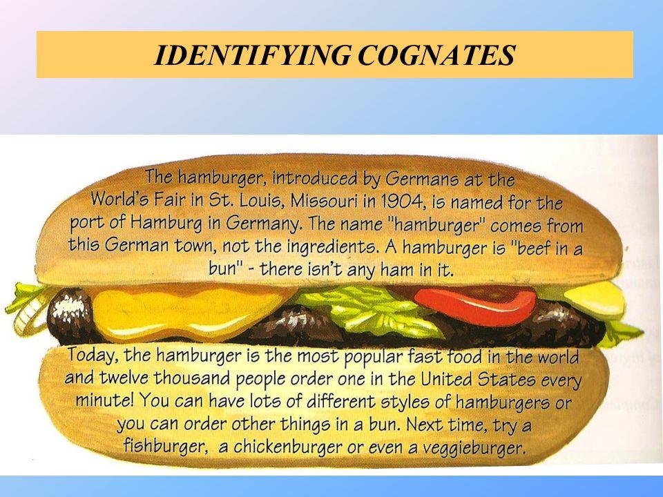IDENTIFYING COGNATES