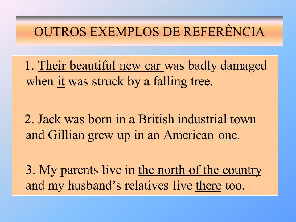 OUTROS EXEMPLOS DE REFERÊNCIA