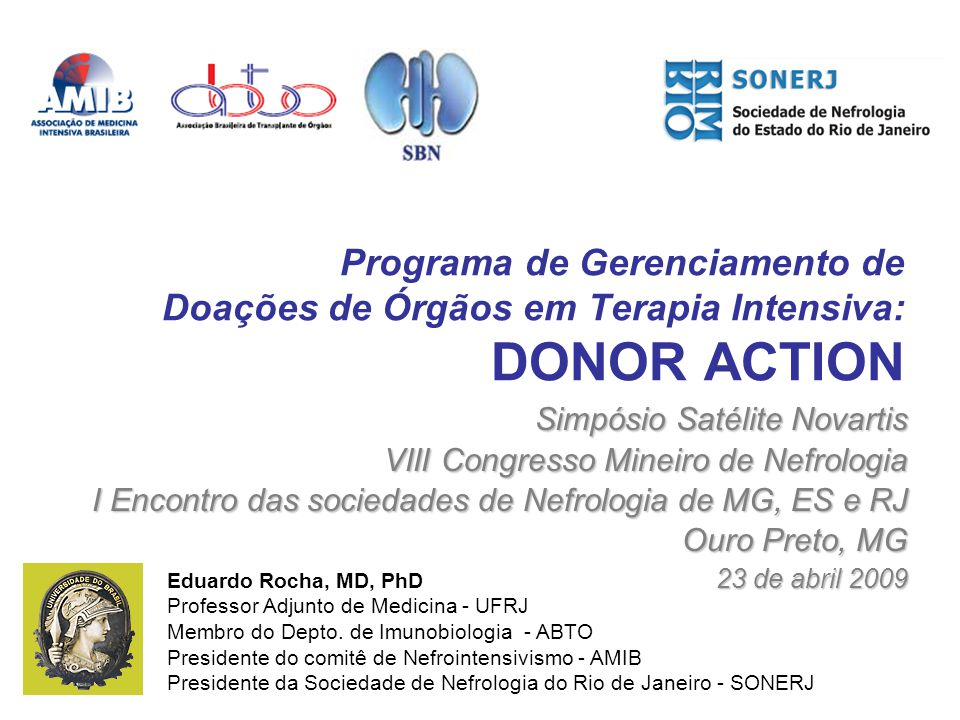 Programa de Gerenciamento de Doações de Órgãos em Terapia Intensiva: DONOR ACTION