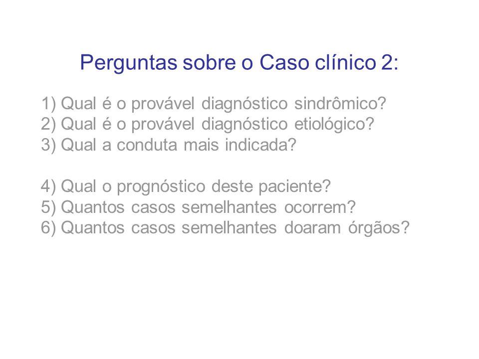 Perguntas sobre o Caso clínico 2: